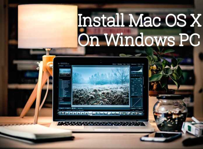 how to install mac os on machine