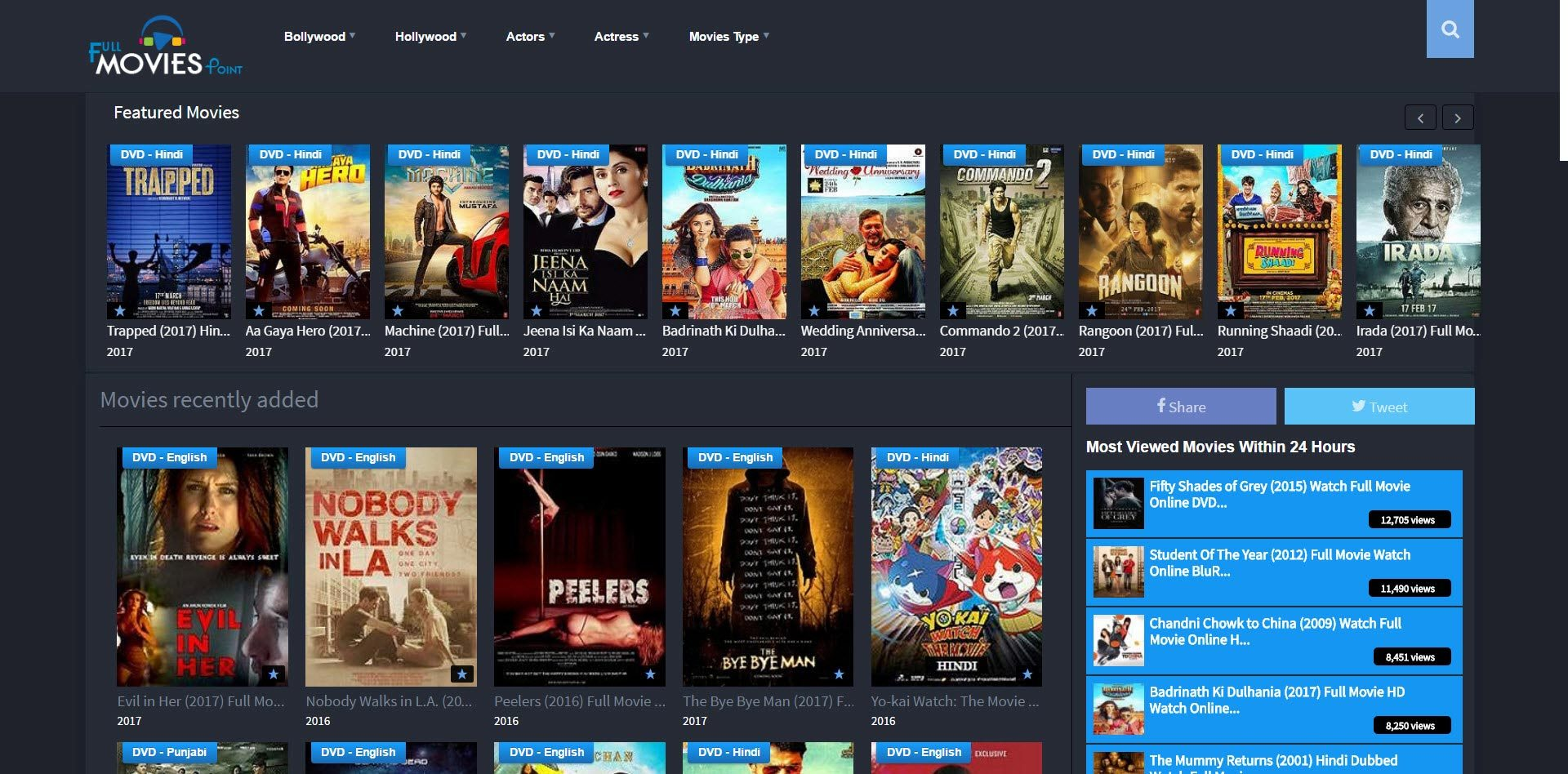 where i watch free movies online without downloading