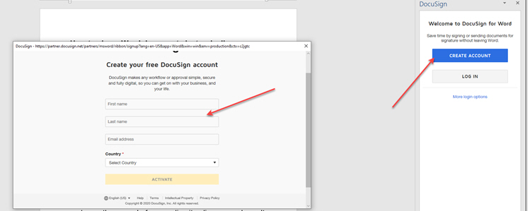 creating-a-docusign-account