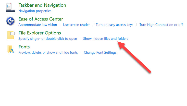 how to see hidden files