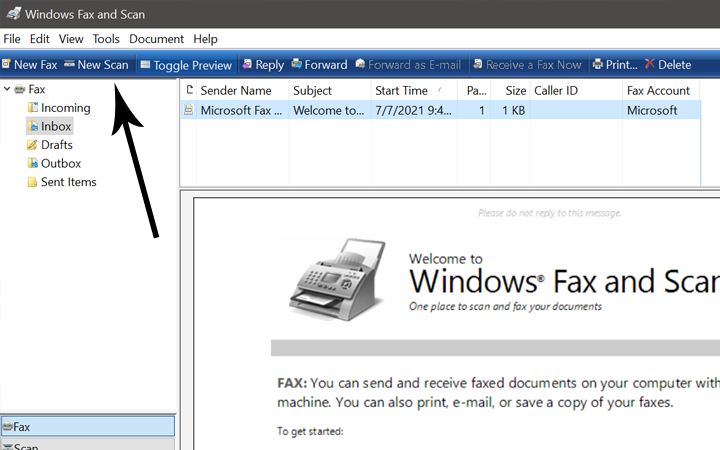 how to scan a document for email