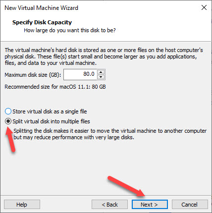 selecting-hard-disk-size-for-the-virtual-machine-macos-big-sur