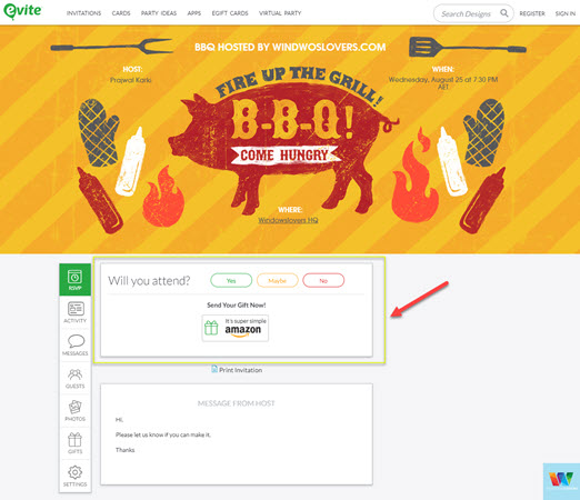 email-invitation-landing-page