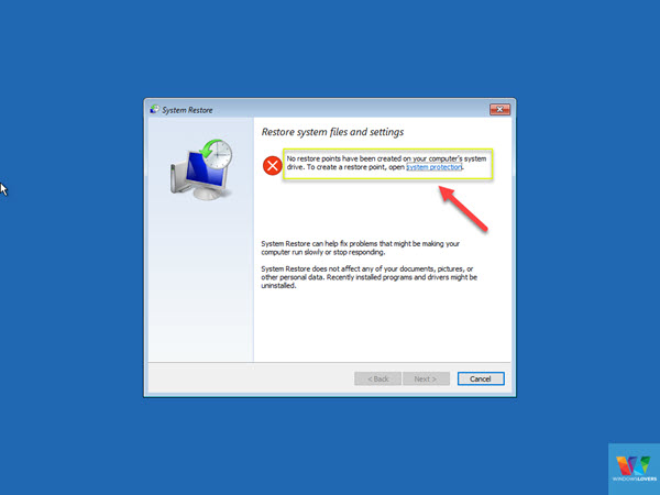 no-system-restore-points-created-on-windows-10
