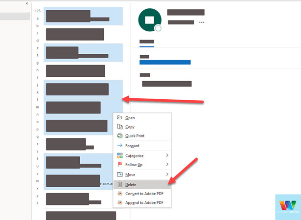 selecting-multiple-outlook-contacts