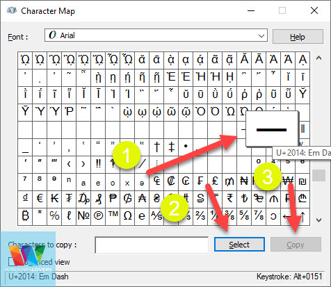 typing-em-dash-using-character-map