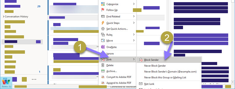 block-emails-in-outlook-365