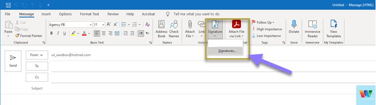 opening-signature-options-in-outlook